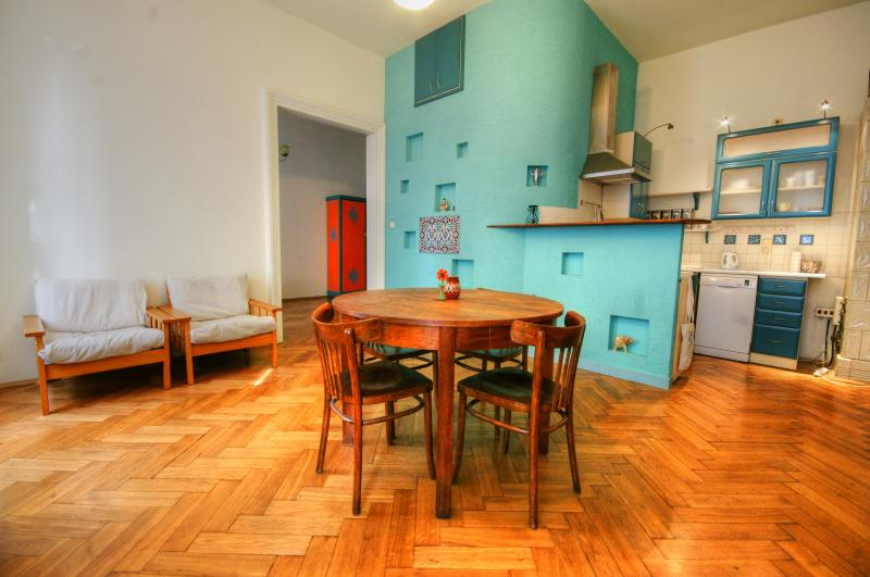 dining and rest room - Retro Apartament in the heart of Krakow's Old Town - Krakow - rentals