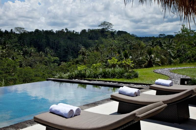 Swimming pool and the valley view - Villa Kelusa - Ubud - rentals