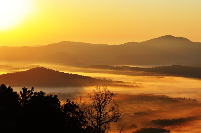 Sunrise view - Sweet Afton : Charlottesville Blue Ridge Cottage - Afton - rentals