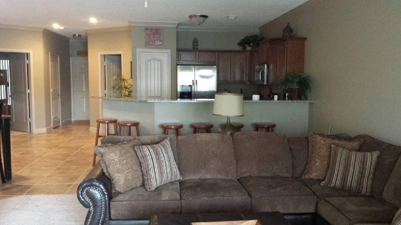 Great Room view from deck entrance - Lake of the Ozarks Condo, Camdenton-3 Bdrm, 2 Bath - Camdenton - rentals