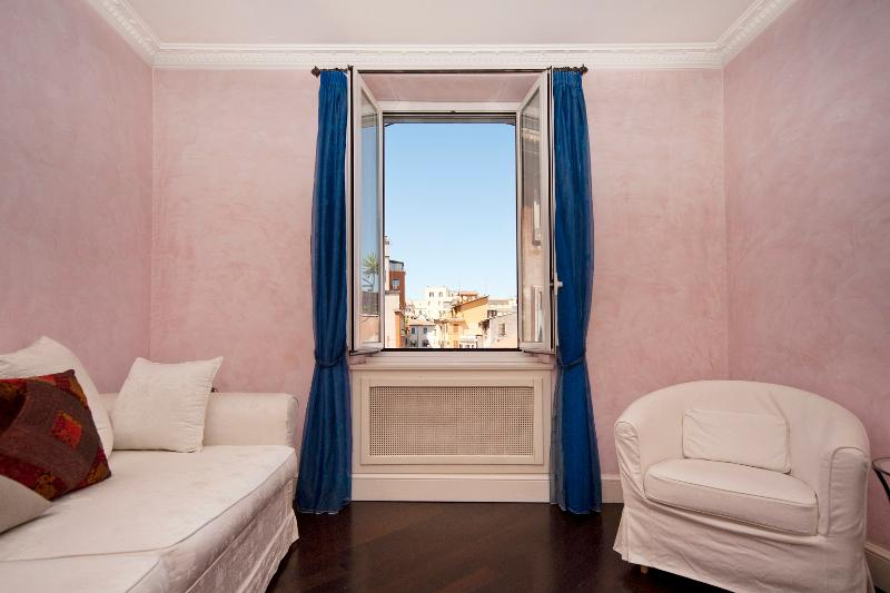 living room - Trastevere graceful apartment - Rome - rentals