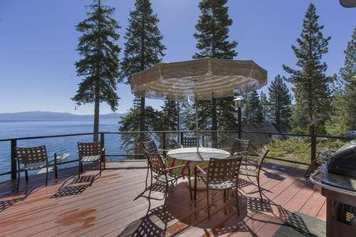 stunning views from the upper deck, just off the dining room - McNary Meeks Bay lakefront pier, VIEWS! dog ok - Lake Tahoe - rentals