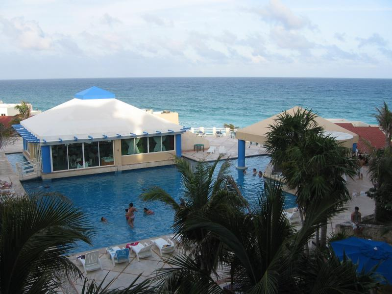 GREAT VIEW FROM YOUR BALCONY - Ocean Front Studio A411 On The Beach - Cancun - rentals