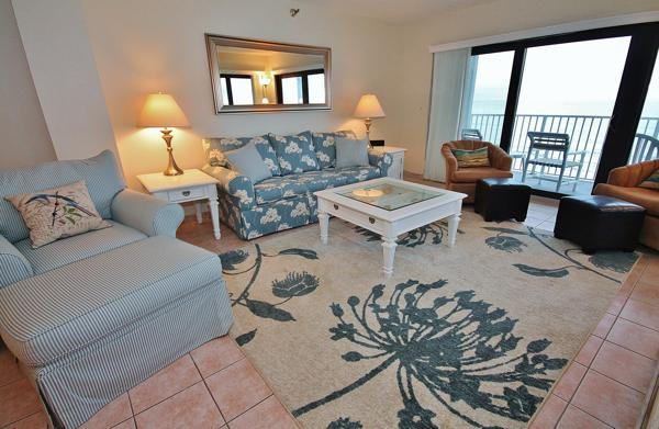Living Room with Ocean View - Shorehom by the Sea 46 - New Smyrna Beach - rentals
