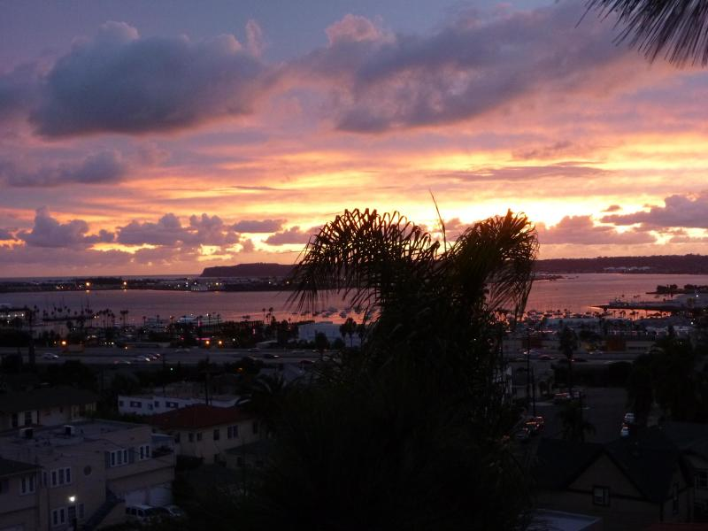 Sunset View from Balcony - Bankers Hill Downtown Penthouse - Views of SD - Pacific Beach - rentals