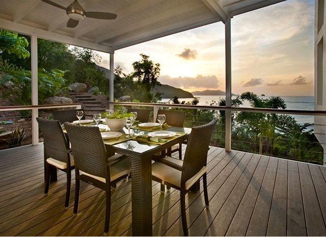 Alfresco Dining - The Refuge - Beachfront Villa on Tortola, BVI - Road Town - rentals