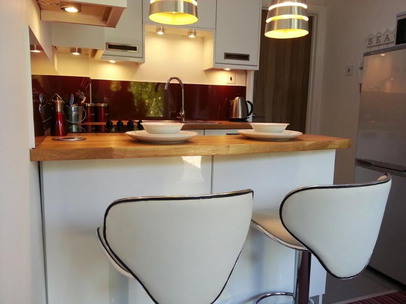 modern kitchen with all of the added extras - Brand New 1 bed annex + private garden in Seaford - Seaford - rentals