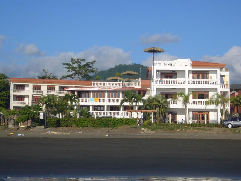 La Paloma Blanca looking from the water on to the property - Ocean Front, Pool-sidem ground floor condo in Costa Rica - Jaco - rentals