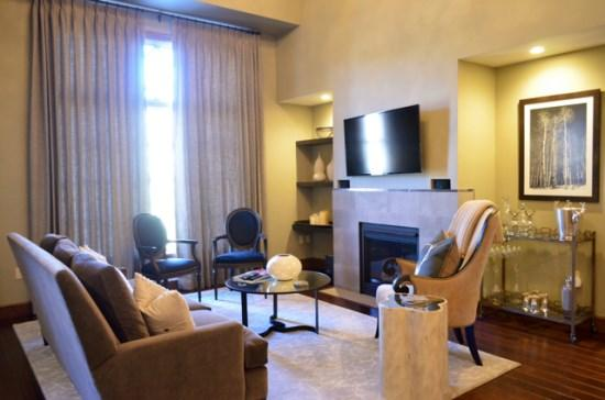 Spacious Living Room with Firepalce, Wall of Windows, Flat Screen TV, and Great Views. - 4BR + Loft Platinum Rated Ascent Penthouse in Avon, CO at the base of Beaver Creek - Avon - rentals