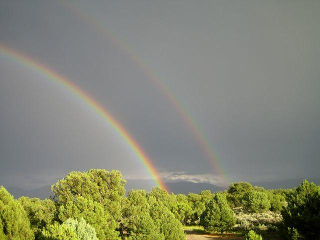 Double rainbow outside! - A SOUTHWEST RETREAT IN THE ENCHANTED FOREST OF NORTHERN NEW MEXICO! - Carson - rentals
