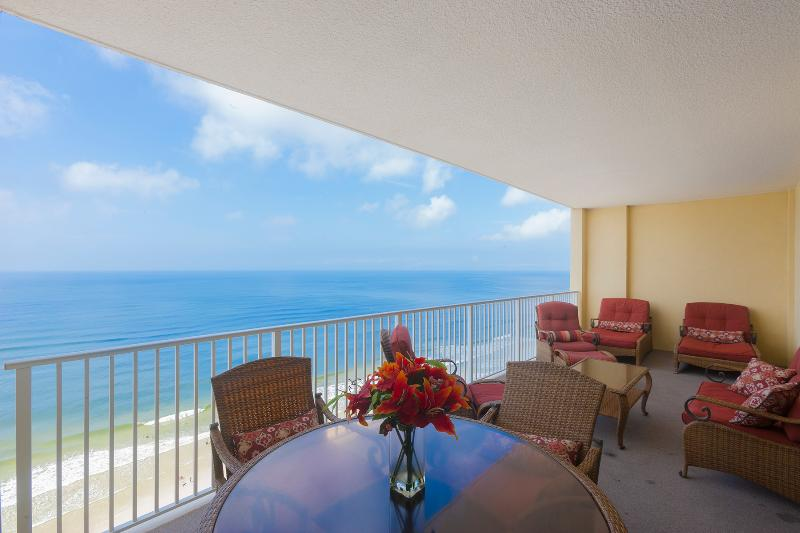 Amazing Gulf view directly from the balcony - Amazing Gulf Front 2 Bedroom at Ocean Reef - Panama City Beach - rentals