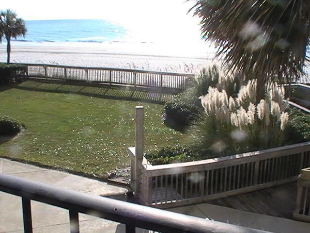 Beach from Balcony - 1st Floor Oceanfront_Condo Rentals Myrtle Beach - Myrtle Beach - rentals