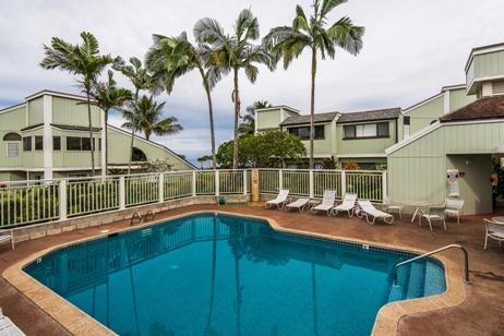 Pool is just steps from the front door - Tropical Paradise with Ocean Views (Kamahana #28) - Princeville - rentals