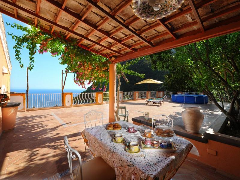 Huge terrace, sea view - V715 - Image 1 - Positano - rentals