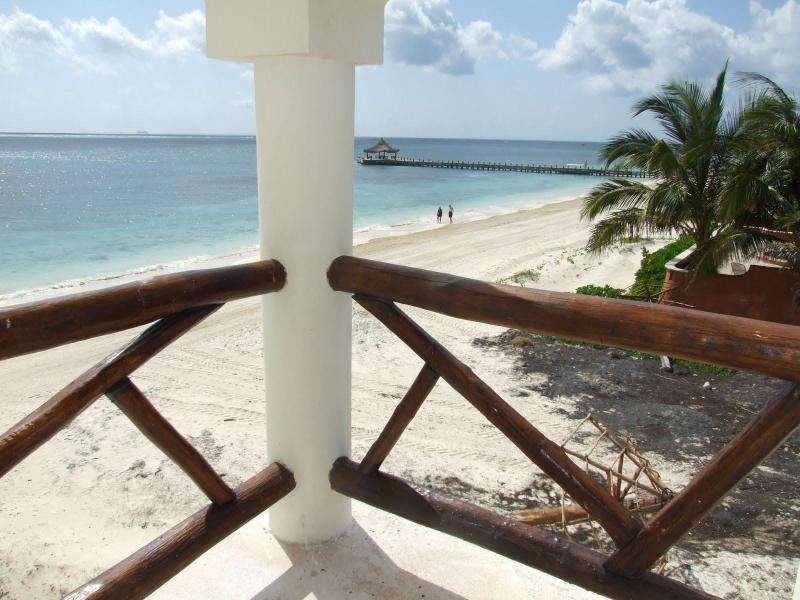 Balcony View of the pier - Oceanfront 1BR condo, Stunning View, Very Private - Puerto Morelos - rentals