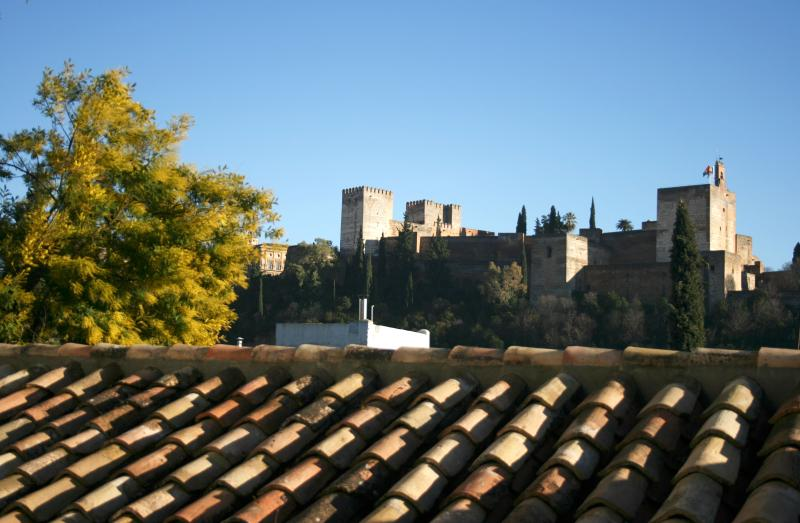 "View from Balcony - Apartment house with  views of the Alhambra.  ""A"" - Province of Granada - rentals"
