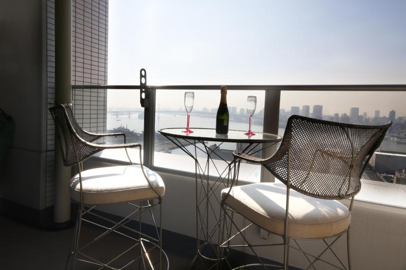 View from the balcony - Beautiful Tokyo Bay, Odaiba, Ginza, Mt. Fuji view1 - Tokyo - rentals