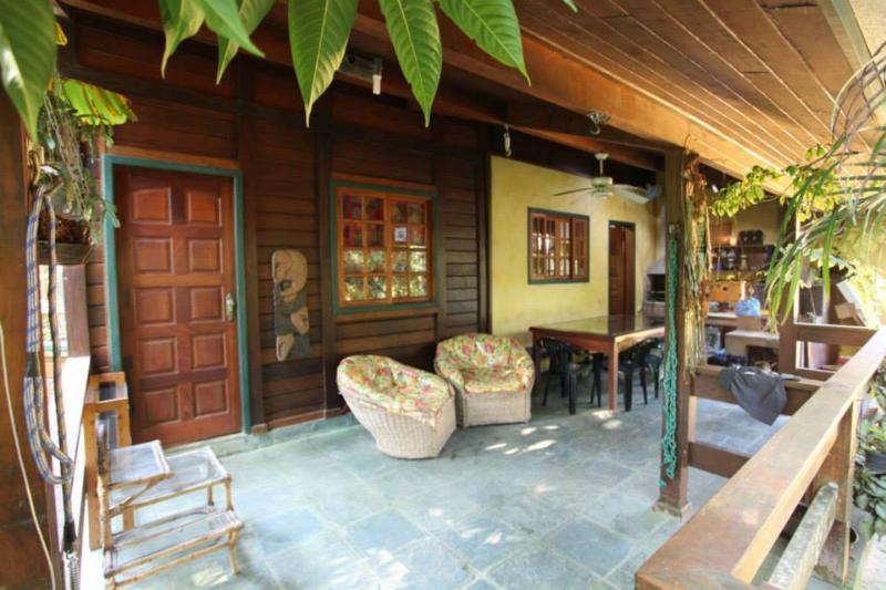 porch - Chalet in Praia Brava da Fortaleza - Ubatuba - rentals