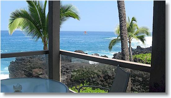 Surf & Racquet 1201 2/1 oceanfront No Booking Fee - Image 1 - Kailua-Kona - rentals