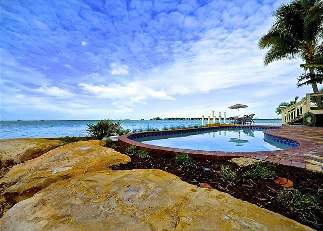 The Pool Has a Beautiful View of the Bay - BAY HARBOR VIEW - Waterfront Monthly Rental w/ Spectacular Views - Key West - rentals