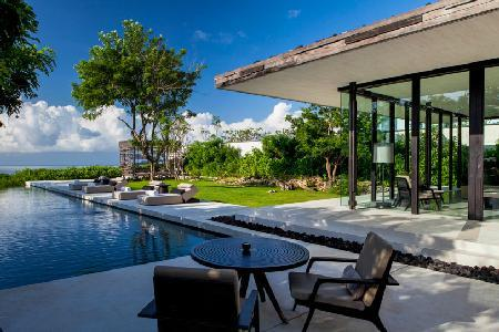 Nestled atop a cliff, ocean view Uluwatu cliffside C1 with lavish pavilions & pools - Image 1 - Pecatu - rentals