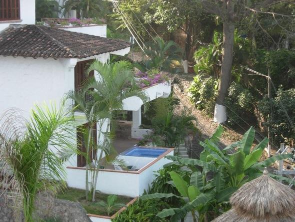 Lookind down to our unit from the rooftop terrace - Amapas area of Puerto Vallarta (Old Town) - Puerto Vallarta - rentals