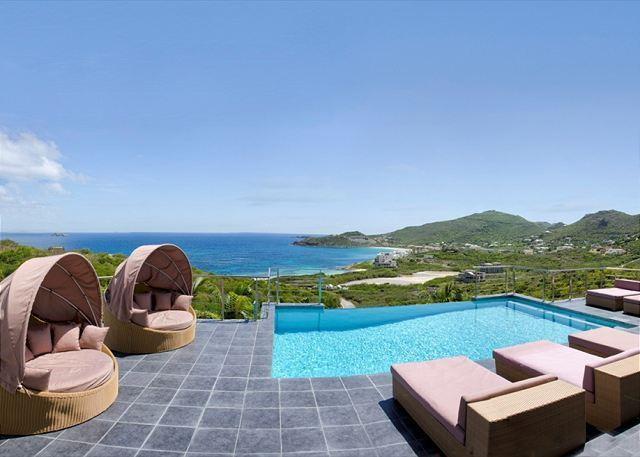 Extensive terraces - Sea La Vie: 4 bedr with views of the ocean and St Barths | Island Properties - Dawn Beach - rentals