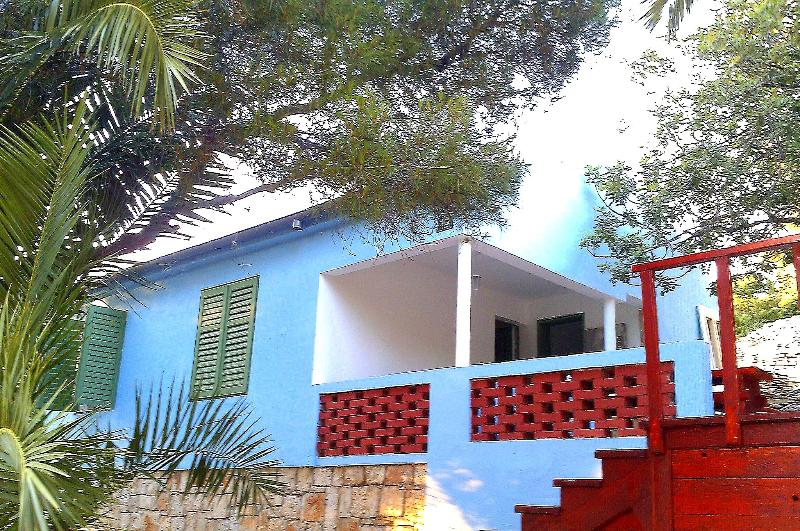 House from outside - Baby Blue House - Vis - rentals