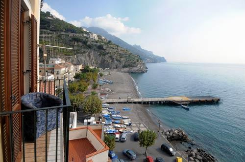 balkony on the sea - Casa Flavia in Minori overlooking the sea - Minori - rentals