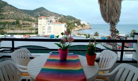 balcony with vieuw - La Marina, 100 meter from the beach, with pool. - Sitges - rentals