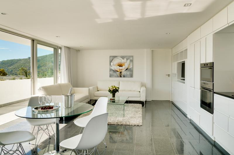 Apartment Lounge, Kitchen, Dining - Brand New Ultra-Stylish Apartment Maxima! - Camps Bay - rentals