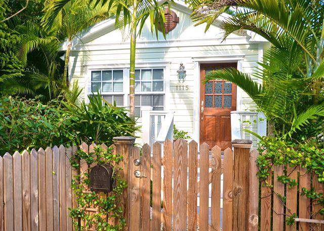 Quiet, Upscale Enclave's Main Entry - PARADISE PALMS - Tropical Key West Home I Quiet Neighborhood - Key West - rentals
