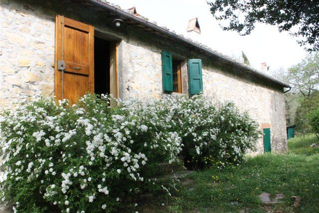 Front Entrance of Apartment and Garden - Tuscany Apartment in Old Chianti Farmhouse - Castellina In Chianti - rentals