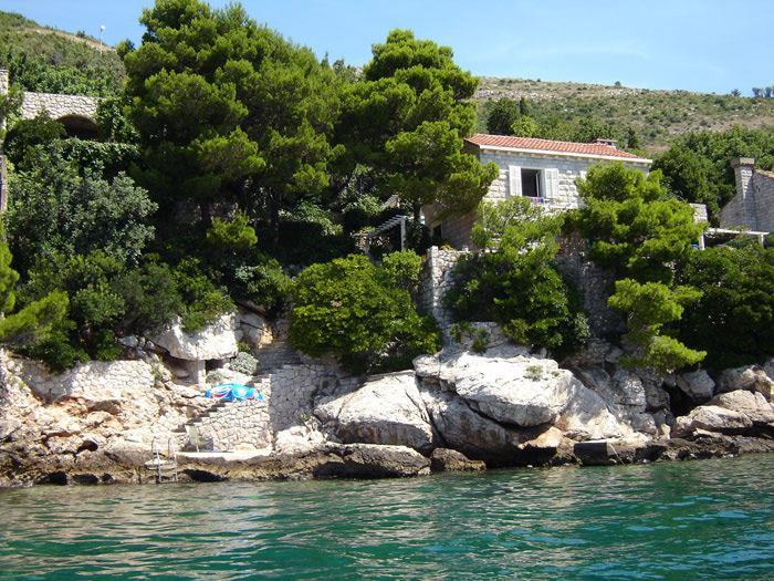Sea side view - Lozica, apartment. for 2 persons, private beach - Lozica - rentals