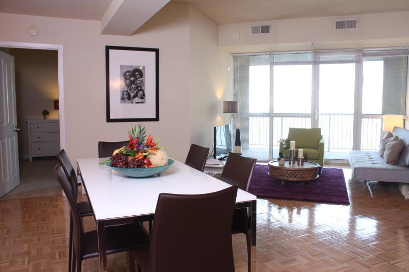 Living Room - Dharma Home Suites 2 Bedroom Apt Suite-Exchange Pl - Jersey City - rentals