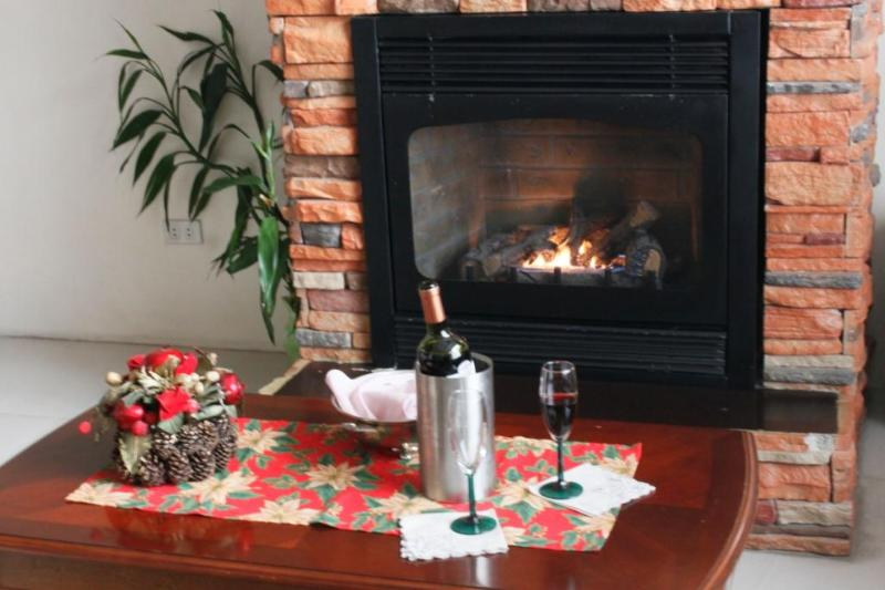 A fireplace and red wine are the perfect companions for cold nights in Baguio. - Large L. A. Townhouse,16 pax $200, 20 pax $250. - Baguio - rentals