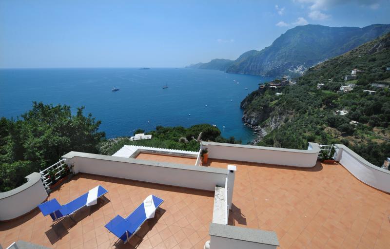 terraces with gorgeus sea view - Villa Valeria,sea view,terraces and garden - Positano - rentals