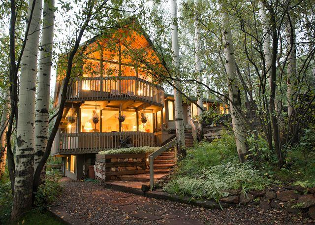 Walking up to the Aspen Highlands House - 6BR/4BA Home Walk to Lifts at Highlands of Aspen - Aspen - rentals