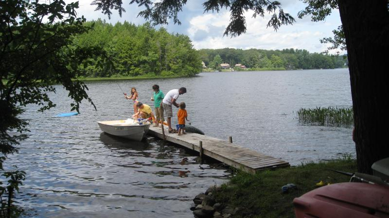 Private Dock and Swimming Area - Lake Warren-Alstead-Walpole-Keene- Lake Cottage Rental - Alstead - rentals