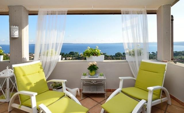 The Lovely terrace with breathakinydviews - Spectacular Lakeview Maison de Charme Trevignano Romano - Trevignano Romano - rentals