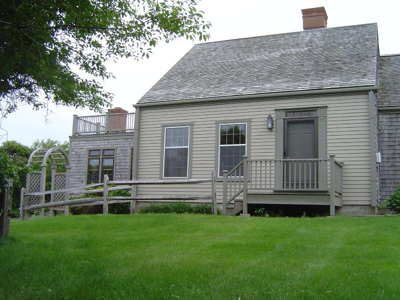 Front View - Privacy 3 acres Rolling Hills Quidnet. House and Cottage - Nantucket - rentals