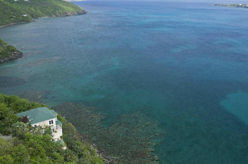 aerial view from south - Edge of Paradise Villa- The Ultimate Getaway - Saint Thomas - rentals