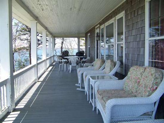 Porch with Seating - Greene Victorian House - Harpswell - rentals