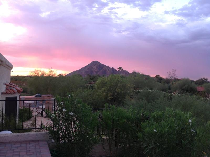 Sunrise from the porch. - Biltmore/Paradise Valley Jewel - Phoenix - rentals