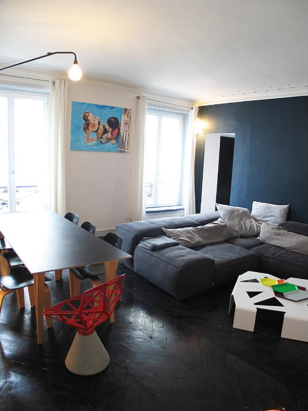 living room - Montorgeuil louvre flat for 4 - Paris - rentals