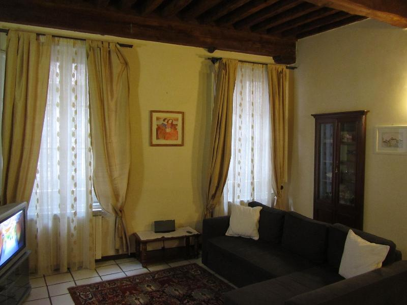 Living room - Apartment Giacomo: Wonderful apartment in Lucca's historical centre, with A/C and WIFI - Lucca - rentals