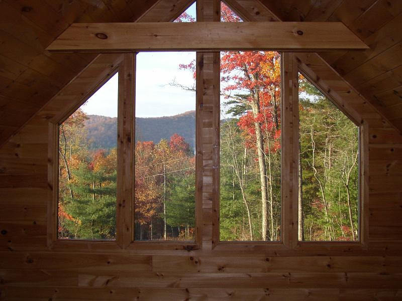 view from the second master bed - Romantic, Secluded Craftsman style cabin - Blue Ridge - rentals