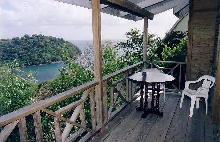 Balcony and sea view - Chalet La Mar, Laborie - Laborie - rentals