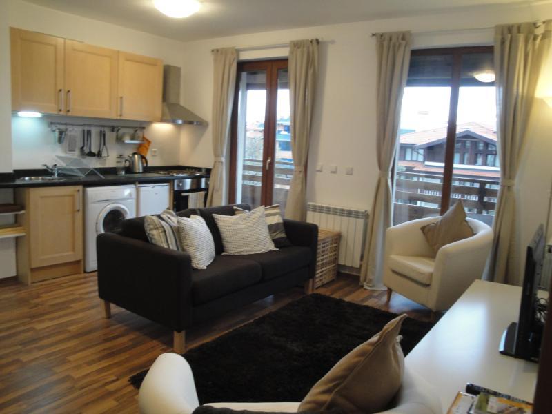 Living Room - Cozy Ski Apartment nr Gondola, Bansko - Bansko - rentals