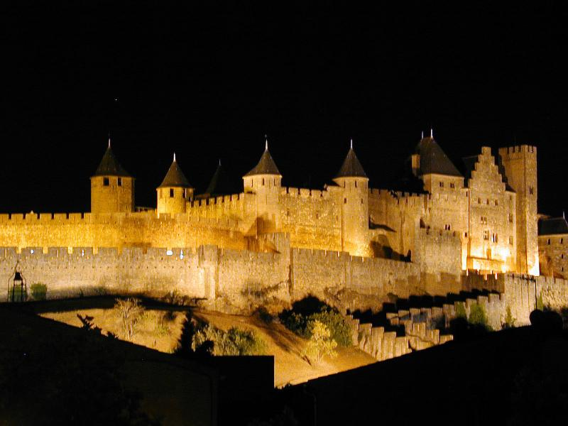 La Cité at night - 2 Bed Apartment, Carcassonne centre, La Cité views! - Carcassonne - rentals